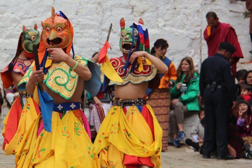 jambay lhakhang drup festival, Bhutan